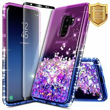 For Samsung Galaxy S9 Case Glitter Cosmic Case With Screen Protector Shockproof