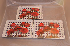 Keller-Charles Serving Trays Red Hats Melamine NWT 3 Matching Hard To Find Rare