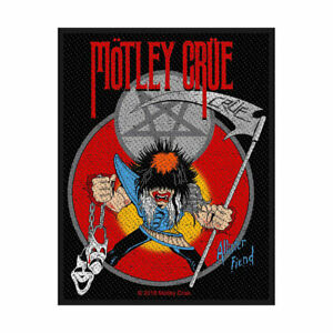 MOTLEY CRUE ALLISTER FIEND OFFICIAL LICENSED SEW ON PATCH HEAVY METAL BADGE NEW