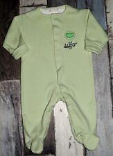 ~ Pyjama en coton épais vert TEX Taille 3 mois  ~ TTBE