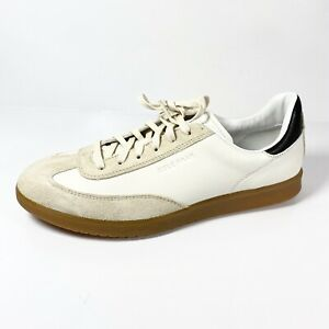 Cole Haan GrandPro Turf Men's Fashion Sneaker Ivory Stone Leather Size 9.5 M New
