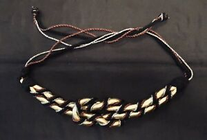 BOHO Silver, Gold, Copper Cord Hip Belt, Mary Hartline's Collection
