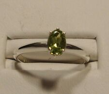 MANAGER SPECIAL New Peridot Ring .925 Sterling Silver Size 6.5