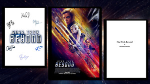 Star Trek Beyond Script/Screenplay & Movie Poster And Autographs Signed Print