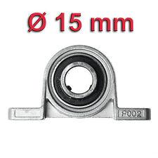 Miniatura soporte recto para Ø 15mm Eje Rodamiento a Rótula de CARCASA