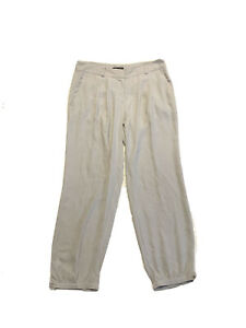 Eileen Fisher Washed Silk Joggers Light Gray Slouchy Pants Womens Size S