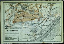 WITTENBERG, alter farbiger Stadtplan, datiert 1914