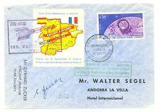 FRANCE -ANDORRA 1962 SPEC CV ROCKET MAIL -ZUCKER RAKETENFLUG --F/VF