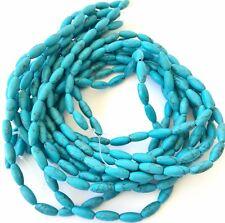 32 Genuine Fine Turquoise Oval Gemstone beads Stone-jewelry Supplies
