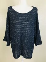 J Jill Pure Sweater Womens Size Medium Pullover Kimono Over Sized Loose Knit