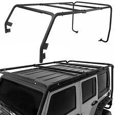 Cargo Roof Rack System Basetop Cross Bar For 07 18 Jeep Wrangler Jk 4 Door Only Fits Wrangler