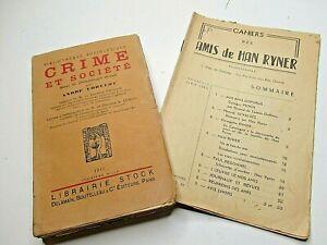 ANDRE LORULOT CRIME ET SOCIETE 1923 EO ANARCHISME HAN RYNER PIOCH DEVALDES