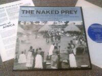 CORNEL WILDE - THE NAKED PREY LP + BOOKLET!!! ORIGINAL U.S FOLKWAYS FS 3854