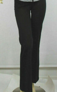 Ralph Lauren Activewear Track Pants Womens Petite XS PXS Black Pink Cotton New