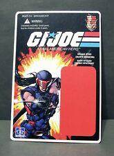 "Custom GI Joe blister and card for ""snake eyes DAWN MORENO"" from IDW"