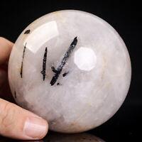 746g 81mm Large Natural Black Tourmaline Quartz Crystal Sphere Healing Ball