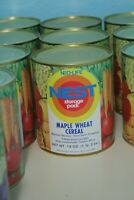 Vintage 1970s Neo-Life NEST Maple Wheat Cereal Can Full Unopened Storage Pack
