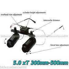 Dental Surgical 5 X Loupes Medical Binocular Glasses Dentist Magnifier 300-500mm