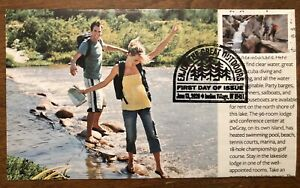 2020 Enjoy The Great Outdoors FDC Hand Crafted Cachet Hiking