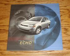 Original 2000 Toyota Echo Sales Brochure 00