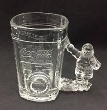 Coca-Cola Santa Handle Mug - 1997 heavy glass