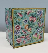 Antique 19thC Chinese Canton enamel box