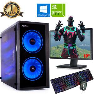 Fast Gaming PC Computer Bundle Intel Core i3 16GB 1TB Windows 10 2GB GT710 NOVA