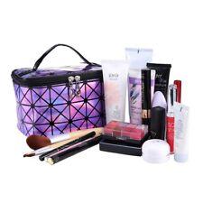 Cosmetic  Women Bag Leather Travel Make Up Necessaries Organizer Zipper Makeup C