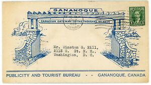 1939 Gananoque Publicity and Tourist Bureau Pictorial Cover Canada 1000 Islands
