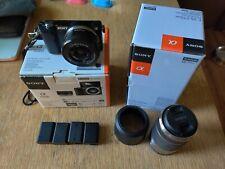 Sony Alpha a5000 20.1MP w/ E PZ OSS 16-50mm & 55-210mm zoom lens