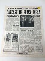 OUTCAST OF BLACK MESA Columbia Press Sheet Charles Starrett Smiley Burnette 1950