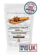 Cinnamon Tablets 3000mg 30:1 Extract Dietary UK