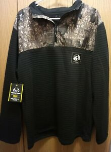 Men's Realtree Timber Camouflage, XL (46/48), Ultra Quiet 1/4 Zip Pullover, NEW