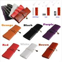 New Cosmetic Portable Leather Make Up Purse Bag Pen Pencil Case Pouch