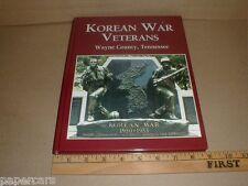 Korean War Veterans Wayne County Tennessee TN Bios History photos NEW Waynesboro