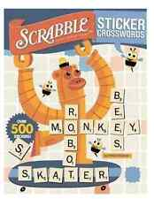 Scrabble Sticker Crosswords by Patrick Blindauer (2007, Paperback) NEW Ages 6-8