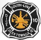 "*VINTAGE*  Cheektowaga  District - 10, New York (3.5"" x 3.5"" size) fire patch"