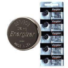 50 pcs Energizer 357 303 SR44W SR44SW SILVER OXIDE Batteries EPX76 A76 NEW 0%Hg