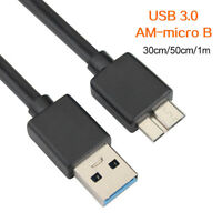 KQ_ High Speed HDD USB 3.0 Male A to Micro B Cable for External Hard Drive Disk