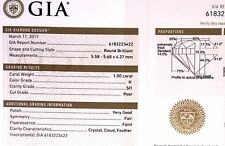 GIA certified 1.00ct SI1 H loose brilliant round cut diamond 5.58- 5.68x 4.27mm