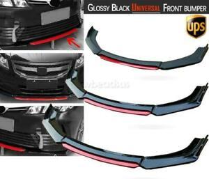 Gloss Black Front Bumper Lip Body Kit Spoiler Splitter For Toyota Corolla Camary