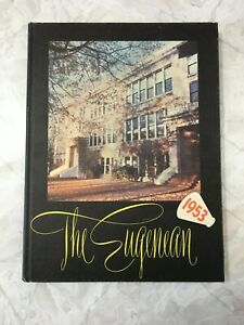 HARDCOVER *Used* HIGH SCHOOL YEARBOOK Eugene, Oregon 1953 THE EUGENEAN