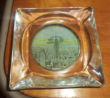 Vintage 1950`S Glass  ashtray,EMPIRE STATE BUILDING NEW YORK  NEW YORK