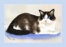 Ragdoll Gato impresión Manta Suave Por Irina garmashova