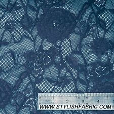 Floral Scalloped Nylon Stretch Lace Fabric by the Yard - Style 725