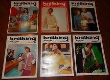 LOT OF 6 KNITKING MAGAZINES 1972 & 1973 VOL 9 NO 1 2 3 4 5 & 6 KNITTING VINTAGE