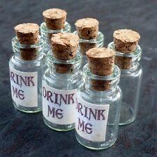 DRAWER Lot Steampunk Alice in Wonderland necklace Drink me bottle vial 1ml 96