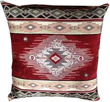 Premium Rustic Southwest Red Diamond Throw Pillow 20x20 Zipper Quick Ship