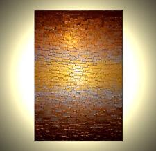 ORIGINAL Gold and Bronze ABSTRACT Art Metallic Textured Painting - 24x36