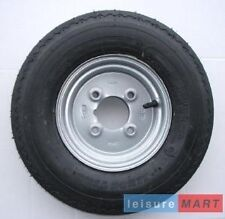 """400 X 8, 4.80 / 4.00 x 8 inch silver trailer wheel and 4 Ply tyre 4"""" pcd"""